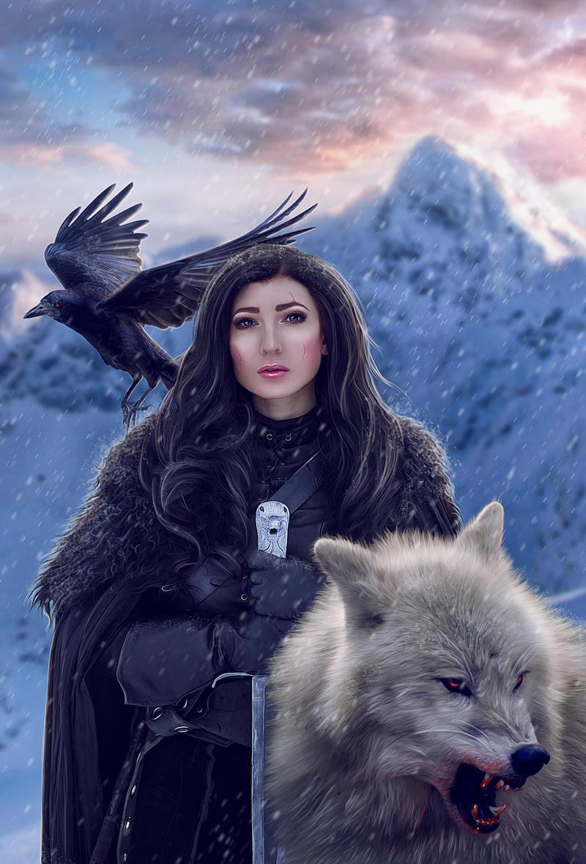 Jon Snow (female version) by Dea-Vesta