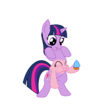 (Request) Twilight x Pinkie Stomach Conjoined