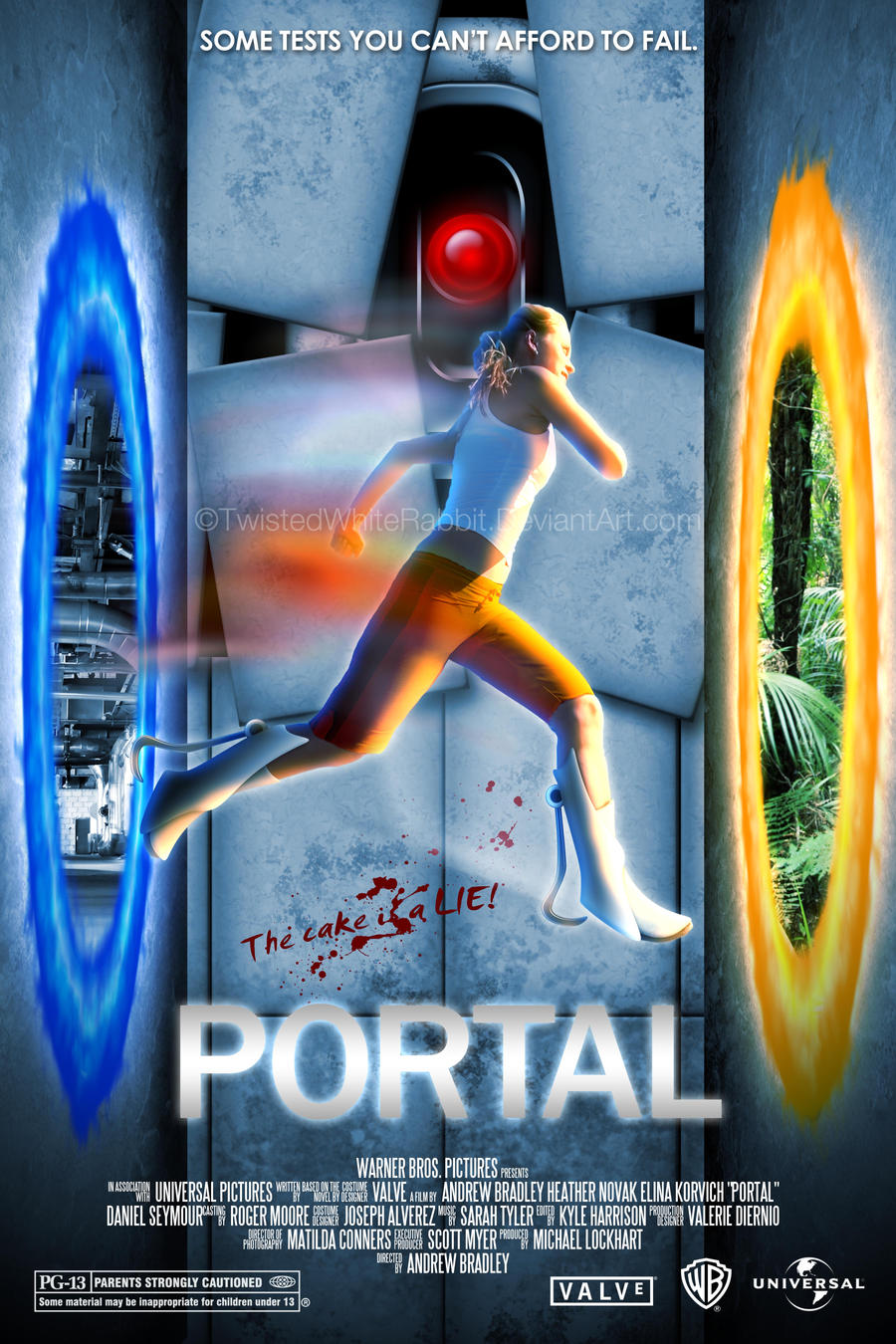 Portal the movie by twistedwhiterabbit on deviantart for 3 portals