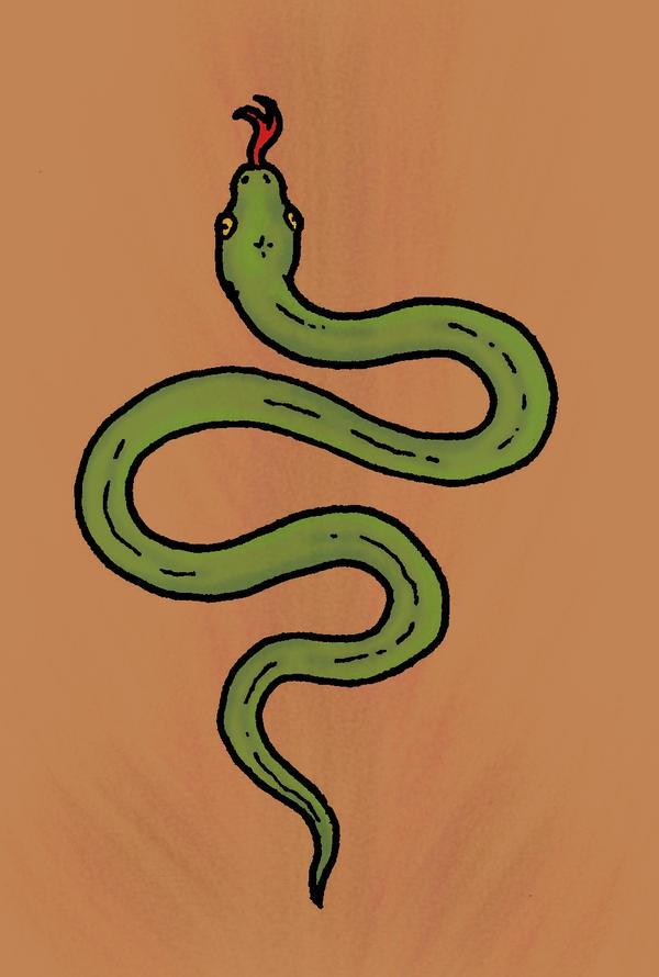 Snake tattoo - chest tattoo