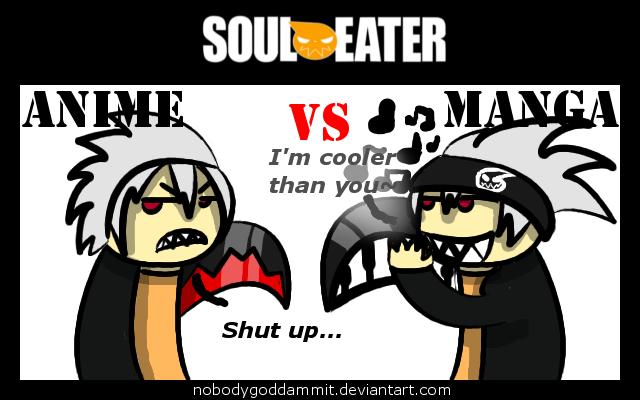 Anime vs manga le piti monde de soul eater