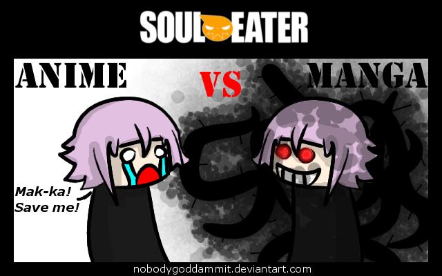 Soul Eater Anime vs. Manga : Chrona by nobodygoddammit