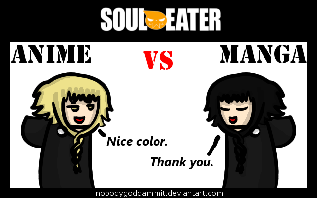 Soul Eater Anime vs. Manga : Medusa by nobodygoddammit
