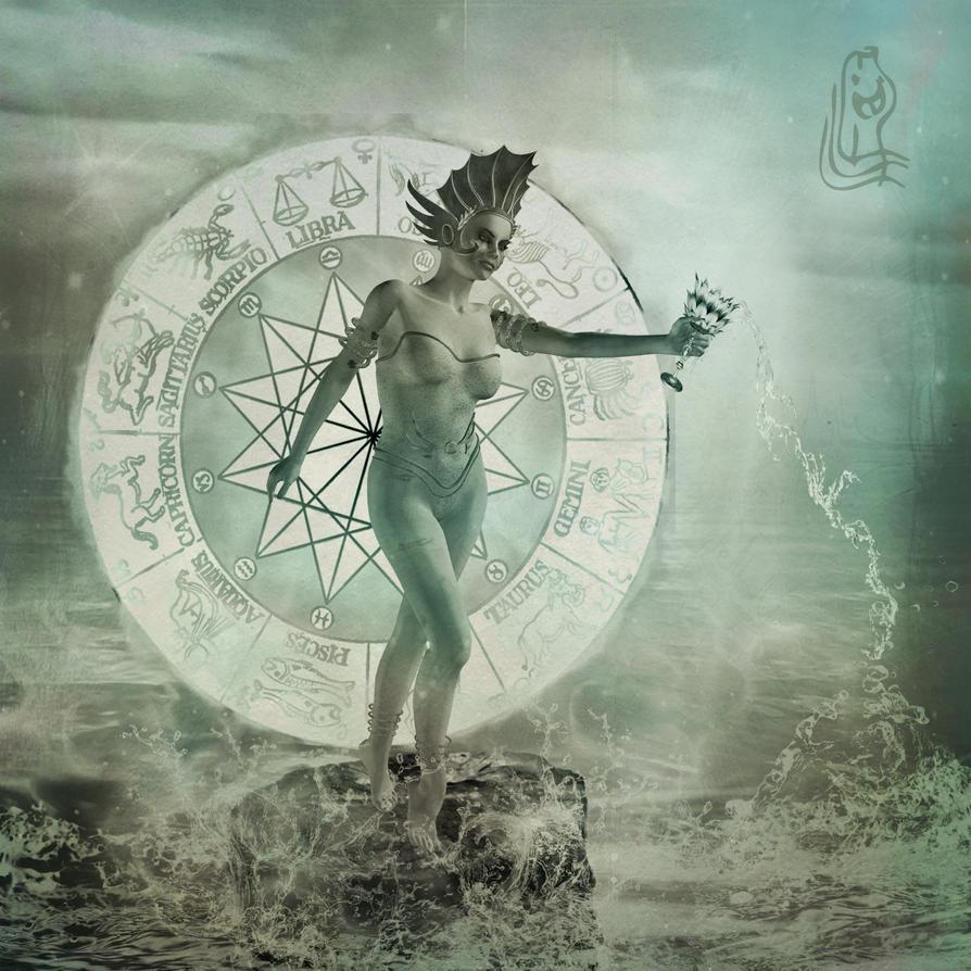 Aquarius - The Water Bearer  by MetadoredWater Bearer Aquarius