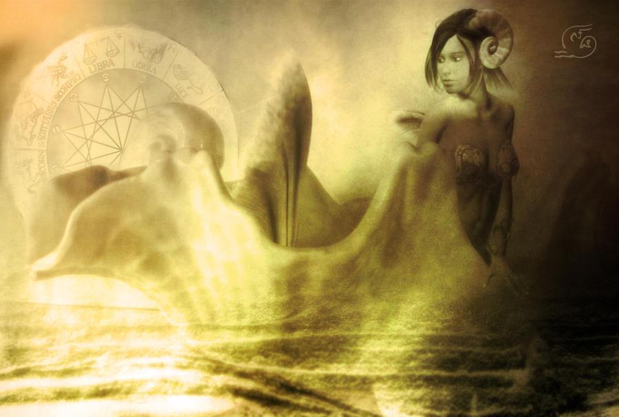 Capricorn - The Sea Goat by MetadoredCapricorn Goat Art