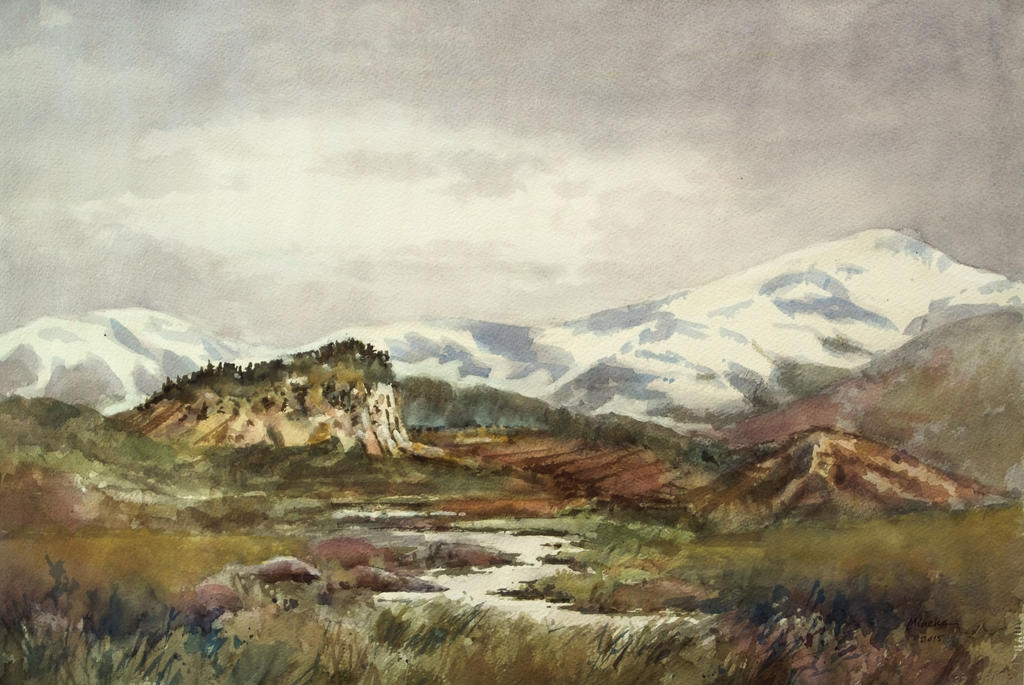 Snowy mountains by angora39