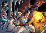 He-man battles Vultak