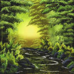 Tranquil wooded stream