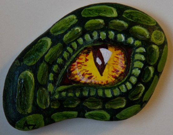 Dragon Eye Rock Painting By Annamoon77 On Deviantart