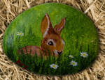 Little bunny - Rock painting by Annamoon77