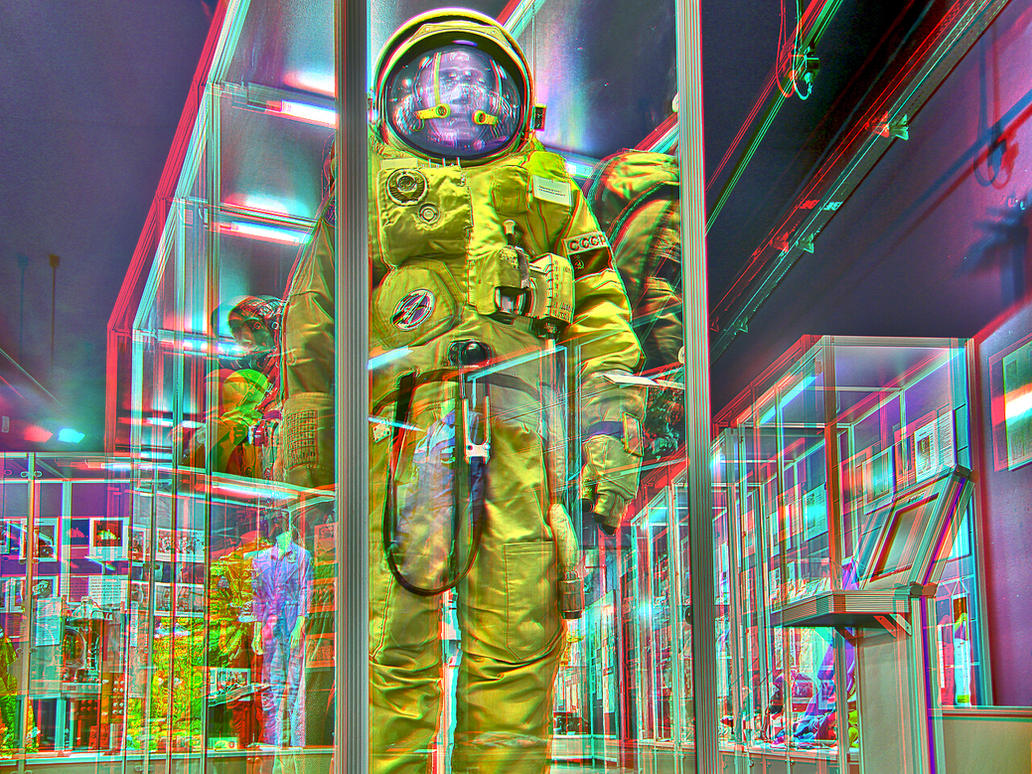Russian space suit anaglyph 3d by zour