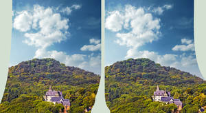 Hilltop Hotel HDR X 3D by zour