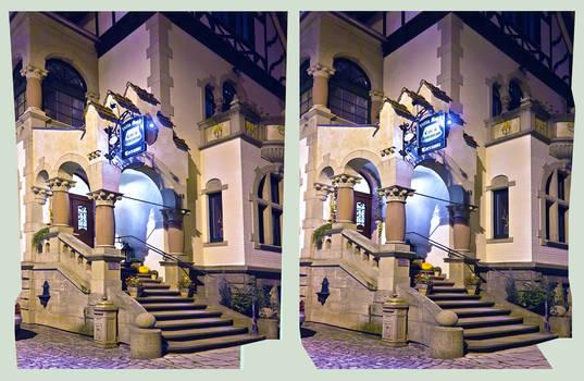 Art nouveau facade 3D