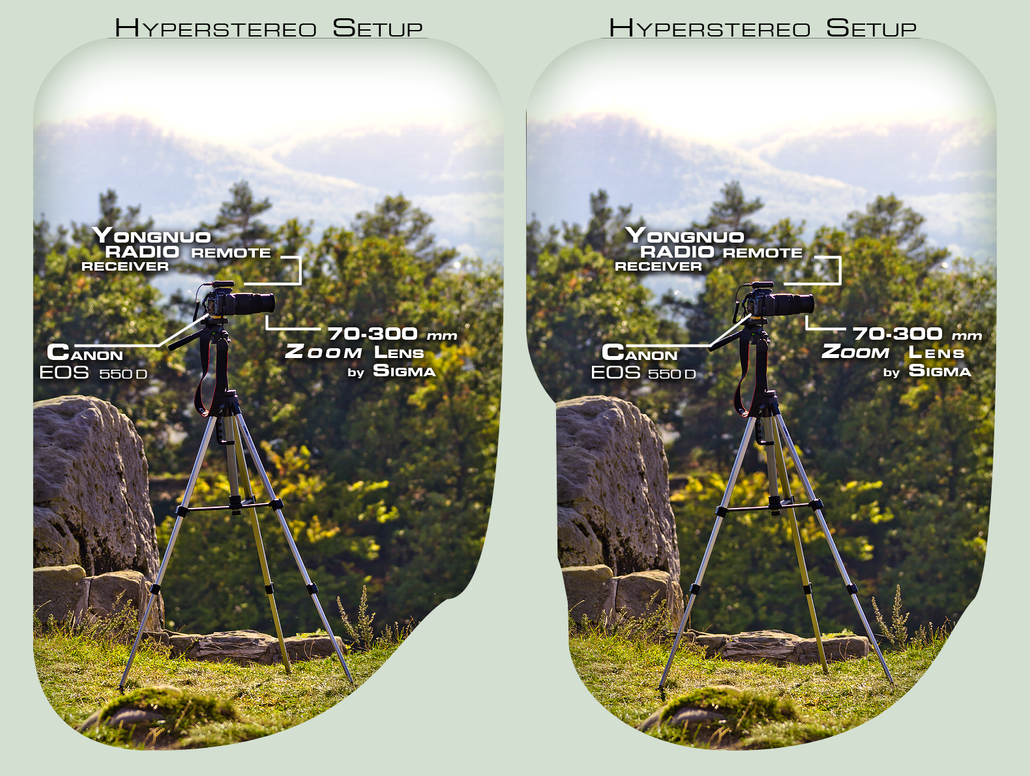 Hyperstereo Setup in Cross View 3D by zour