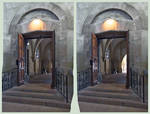 Gate in Cathedral HDR X-3D