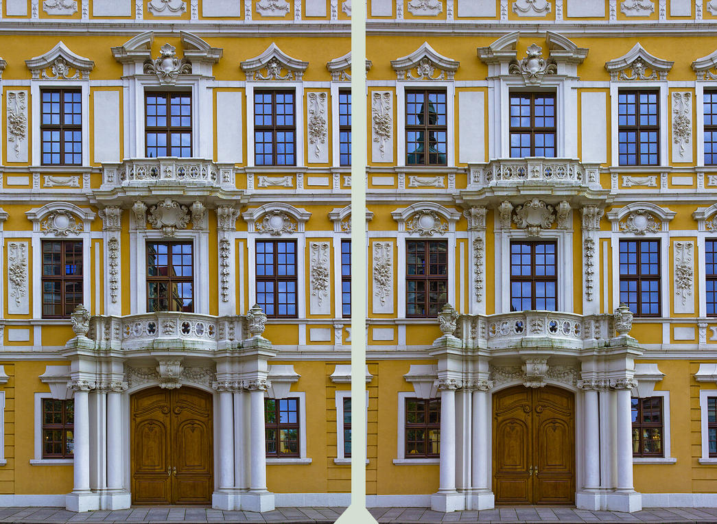 Taschenbergpalais 3D ::: Cross Eye HDR by zour