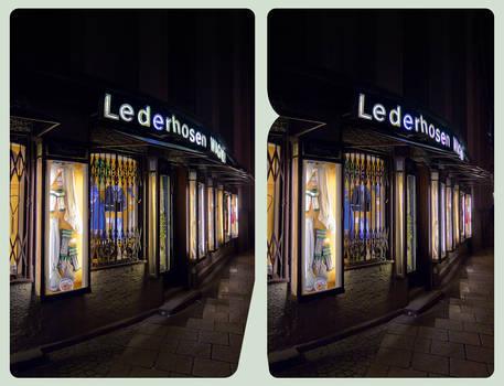 Lederhosen Wagner 3D ::: HDR Cross-Eye Stereoscopy