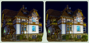 Villa quarter at night 3D ::: HDR Cross-View :::