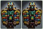 Mahakala Mask 3D ::: HDR Cross-Eye Stereoscopy