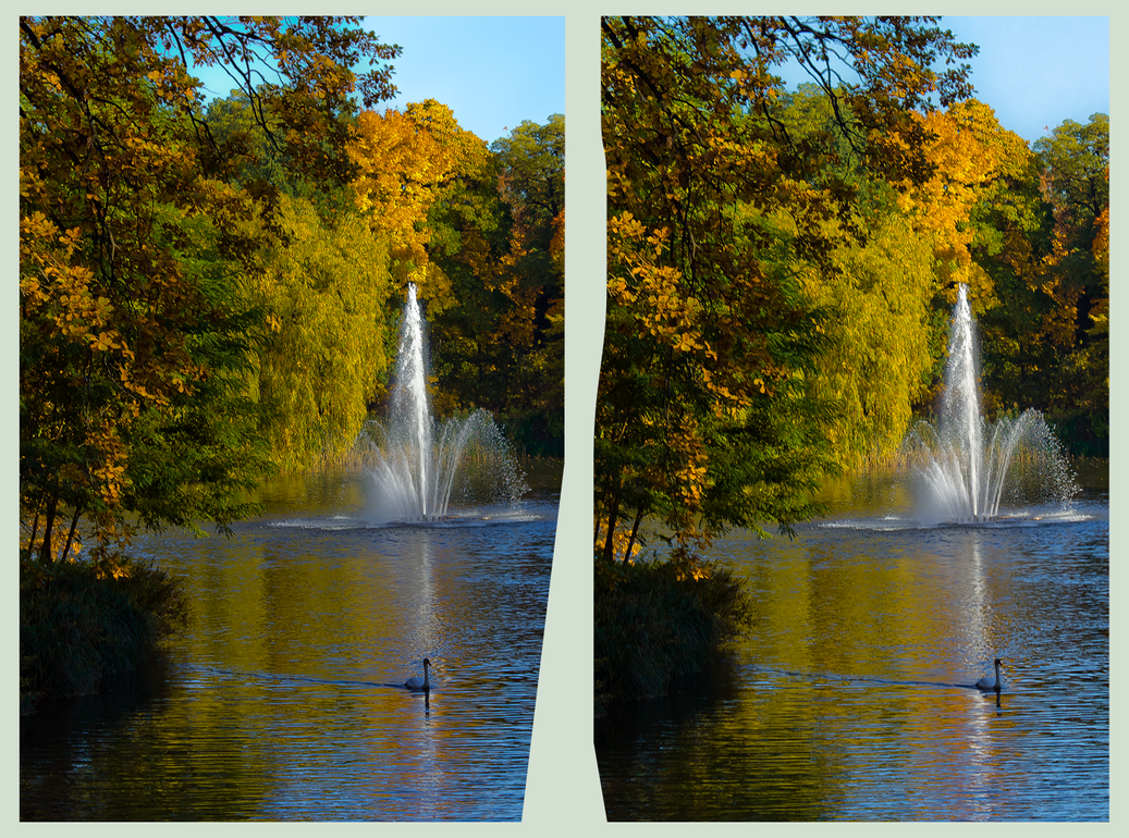 Great Garden 3D ::: HDR Cross-View Stereoscopy by zour