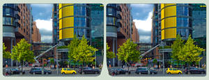 Berlin Potsdamer Platz II ::: HDR Cross-View 3D