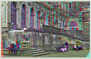 Dresden Zwinger I ::: DRI Anaglyph Stereoscopy