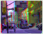Mack Truck Downtown Toronto 3-D ::: Anaglyph HDR by zour
