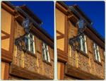 Quedlinburg street light 3-D / Stereoscopy / HDRaw