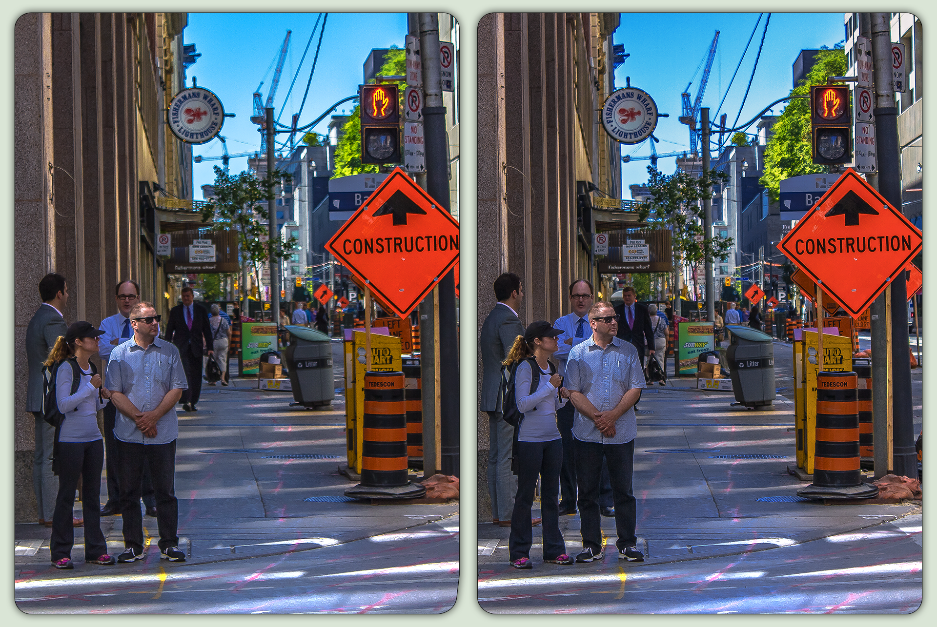 Toronto street scene 3-D / CrossView / Stereoscopy by zour
