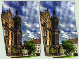Stadtschloss Dresden 3-D / CrossView / Stereoscopy by zour
