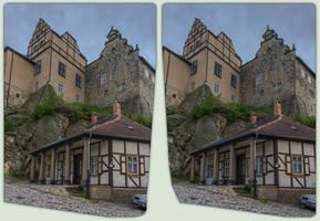 Quedlinburg Castle 3-D / CrossView / Stereoscopy by zour
