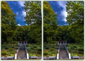 Kurpark Bad Suderode 3-D / CrossView / Stereoscopy by zour