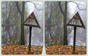Stadtpark im Herbst 3-D / CrossView / Stereoscopy by zour