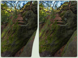Stairs to nowhere 3-D / CrossView / Stereoscopy by zour