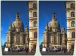 Dresdner Altstadt 3-D / CrossEye / Stereoscopy HDR by zour