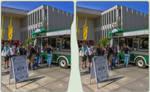 Vintage food truck 3-D / CrossView / Stereoscopy