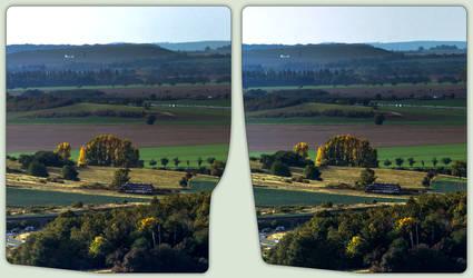 Blick vom Regenstein 3-D / CrossView / Stereoscopy by zour