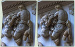 Relief des Pergamonaltar 3-D / CrossView / Stereo by zour