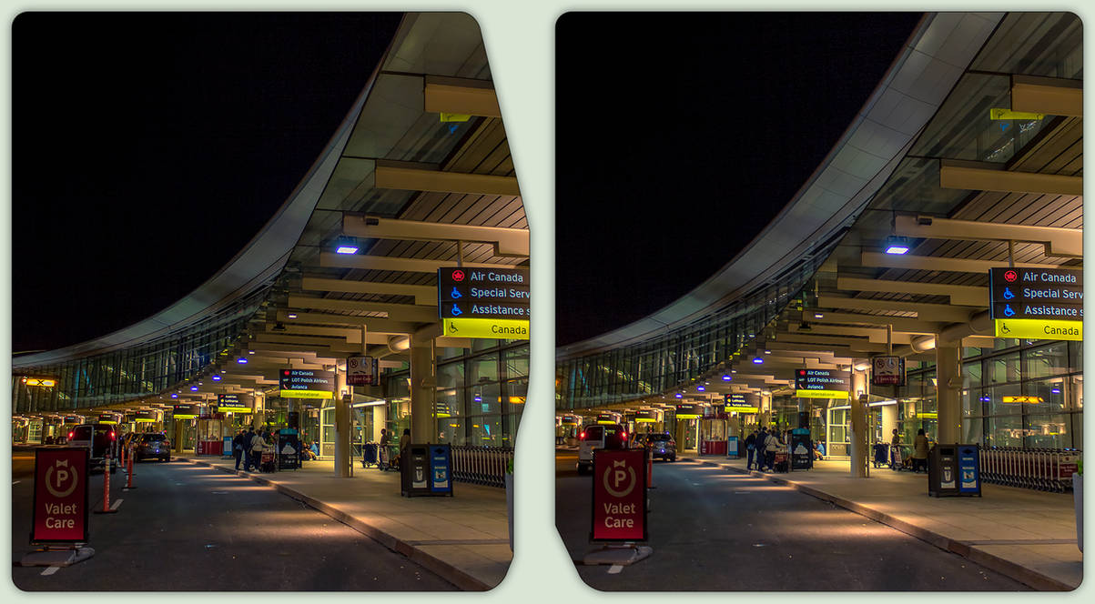 Toronto Pearson International Airport 3-D CrossEye by zour