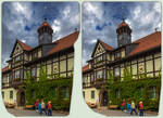 Gernrode Rathaus 3-D / CrossView / Stereoscopy HDR