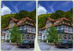 Treseburg Truss 3-D / CrossView / Stereoscopy HDR