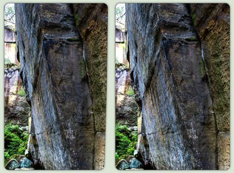 Lattengrund wall 3-D / CrossView / Stereoscopy