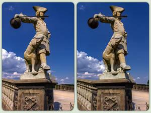 Moritzburger Schloss 3-D / CrossView / Stereoscopy