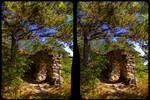 Burg Langenstein 3-D / Kreuzblick / Stereoskopie by zour