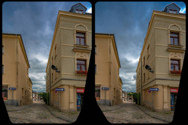 Alleyway 3-D / CrossView / Stereoscopy