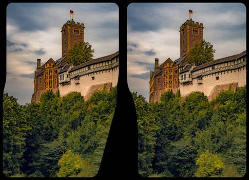 Wartburg castle 3-D / CrossView / Stereoscopy