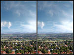 Stereo Cross View Of A Valley