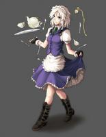 AWA Touhou Scroll Project - Sakuya by freezeex