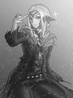 Livestream Commission:Final Fantasy XIV Au Ra OC by freezeex
