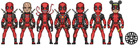 Pixel Deadpool 3 by Nez99